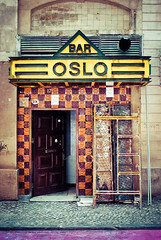 Bar Oslo (The Green Album) Tags: bar oslo portugal lisbon urban street ladder decoration purple yellow tiles ceramics drink city capital