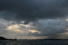 NOV_1928_00004 (Roy Curtis, Cornwall) Tags: uk cornwall falmouth ship carrickroads stormclouds sea coast weather