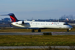 N369CA (Delta Conn. - GoJet Airlines) (Steelhead 2010) Tags: deltaairlines deltaconnection gojetairlines bombardier crj crj700 yyz nreg n369ca