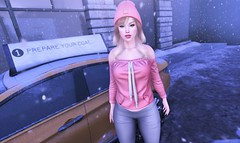 Until Dawn (EnviouSLAY) Tags: pink winter cityscene city scene secondlifefashion secondlifephotography beanie hathair hat hair blonde blond blueeyes blue eyes genus classic bento belleza freya tetra hoodie leggings riot newreleases new releases fameshed kustom9 monthlyevent monthlyfashion monthlyfair monthly event fair fashion foxy pale female male gay lgbt blogger secondlife second life photography