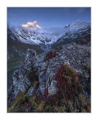 Langtang Lirung (7227m) from Kyanjin Ri (4300m) (Sean D H Lewis) Tags: nepal langtang mountain kyanjin himalayas