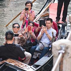 Enjoying the Gondola (Fairy_Nuff (piczology.com)) Tags: venice canal welshot gondola gondolier mobile phones tourists missing out