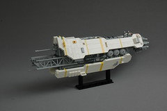 Elementarium IV - New Elementary parts fest (adde51) Tags: adde51 lego moc space spaceship shiptember newelementary partsfest domes greebling white grey