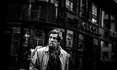 gucci man (Rigpa22) Tags: street streetphotography strasse sw stadt gucci bw black city cigarette man mann menschen men