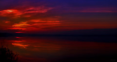 Trionfo (Gio\/anni) Tags: gio☼ sunset lake light red soul mood myphotography nature reflection silence soft waterscape purple orange yellow serene calm sky gorgeous pretty beauty outdoor outside landscape evening colorful magical water contrast weather longexposure coucher tramonto eau contemplation meditation heaven fire elements