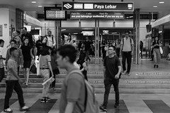 Metro Station Life (Robycrux) Tags: mobiles white black planet happy station high geometriy shape lines geometry destinations asia places art public structure urban travel modern inspiration creative creativity photo around massive arrival edificio urbano viajes moderno artistic singapore culture knowledge daily life jobs aasia train metro subway transportation lifes movement color peoples streetphotography capture time shot street