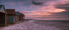 Beach Huts during a Wittering Sunset (BarryTurnerPhotography) Tags: seascape seaside sundown sunset sunsetlight water barryturner nikond810 nikkor24120mmafsvr cloudsstormssunsetssunrises leefilter nd3softgrad chichester wittering