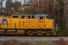Thanksgiving on the Rails (dylanjones18) Tags: speed pacing pace panning pan exposure trees meridian ms mississippi southern norfolk ns trains train exploring explorer explore scenery winter sunset uprr pacific union railroad road rail holidays holiday thanksgiving