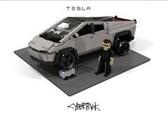 Tesla Cybertruck (lego911) Tags: tesla cybertruck cybrtrck 2019 elon musk bev battery electric auto car moc model miniland lego lego911 ldd render cad povray usa american truck cyber america elonmusk teslacybertruck afol instruction