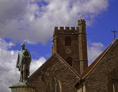 St. Mary (Andy WXx2009) Tags: brecon wales europe church architecture building religion artistic skyline cityscape street statue landmark history stmary culture