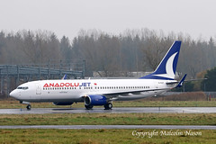 B737-8AS EI-ESY (TC-JZL) ANADOLUJET (shanairpic) Tags: jetairliner passengerjet b737 boeing737 irish iac ryanair anadolujet shannon eiesy tcjzl