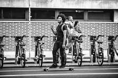 You Didn't Bleed (Thomas Hawk) Tags: america brooklyn nyc newyork newyorkcity usa unitedstates unitedstatesofamerica bicycle bike bw skateboard fav10