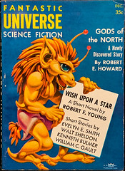 Fantastic Universe Vol. 6, No. 5 (December 1956). Cover Art by the Master of Bug-Eyed Monsters, Hannes Bok (lhboudreau) Tags: pulpfiction pulp pulps pulpart magazine magazines pulpmagazine pulpmagazines magazineart magazinecover magazinecovers pulpcover pulpcovers vintagemagazine vintagemagazines sciencefictionmagazine sciencefictionmagazines fantasticuniverse fantasticuniversemagazine 1956 december1956 sciencefiction classicsciencefiction volume6number5 coverart magazinecoverart coverofamagazine digest digestsize fantasticuniversesciencefiction alien monster beast bugeyedmonster hannesbok bok godsofthenorth robertehoward wishuponastar robertfyoung evelynesmith waltsheldon kennethbulmer williamcgault illustration drawing