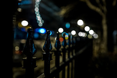 Night Time Delights - HFF (Mark Somerville.) Tags: hff street night iron rod mark somerville burlington fuji x bokeh