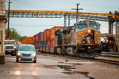 KCS 4609 - Mexico, Missouri (backlitkid) Tags: kcs4609 ac4400cw kcs trains intermodal freight railroading railroads railfanning