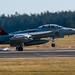 VAQ-129 VIKINGS CAG BIRD EA-18G GROWLER MAKING TIRE SMOKE AT OLF COUPEVILLE - 16:9