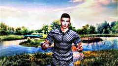 """"""" If You're Honestly Happy, Fuck what People Think """" (maka_kagesl) Tags: secondlife sl photography portrait photo picture pic pose posing painting ps photoshop avatar avi game virtual videogame nature water lake river trees green grass plants flowers snap snapshot screenshot greenscreen"""
