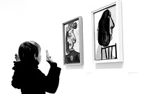 The boy and Picasso (patrick_milan) Tags: portrait picasso painting black boy garçon
