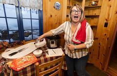 Cabin Fever (.sanden.) Tags: instantpot blender expression funny woman glasses cabin interior sanden colorado canon7dmarkii efs1018mm godoxv1 flash cooking kitchen