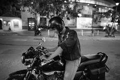 Guy Suzuki (Cadicxv8) Tags: night nightphotography blackandwhite saigon street streetphotography motorcycle biker