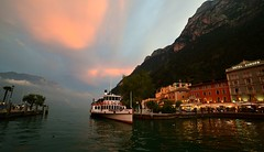 Riva del Garda - After Sunset (cnmark) Tags: italy italia rivadelgarda trentino gardasee lake garda lago ponale paddle wheel steamer schaufelraddampfer sunset clods wolken sonnenuntergang dusk dämmerung ©allrightsreserved