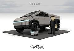 Tesla Cybertruck (lego911) Tags: tesla cybertruck cybrtrck 2019 elon musk bev battery electric auto car moc model miniland lego lego911 ldd render cad povray usa american truck cyber america elonmusk teslacybertruck afol foitsop instruction