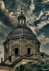 Torre-exagonal-Monasterio-Santa-Fe_Zaragoza (Carlos Perulán) Tags: torre monasterio abandono