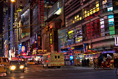 A Night In The City (raymondclarkeimages) Tags: rci raymondclarkeimages 8one8studios google flickr usa stm 50mm18stm canon lights outdoor nyc night street newyorkcity 6d neon signs streetphotography city buildings timessquare people