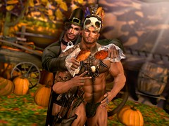 """""""FOOD FIGHT: A #TeamCP Thanksgiving"""" (Part 2) (Chase Ezarael Parthicus) Tags: secondlife sl secondlifeblogger secondlifephotographer secondlifephotography slblogger slphotographer slphotography thanksgiving happythanksgiving turkey thanksgiving2019 musclehunk muscleworship nativeamerican pilgrim mayflower fitnessmodel bubblebutt mensstyle mensfashion costumeparty halloween fantasy malemodel secondlifemodel slmodel hotguy hotguys sexymen sexyguys alphamale"""