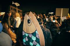 Sardine (Roberto Spagnoli) Tags: sardine fish protest demonstration socialphotography actuality politics italy verona night piazza square populismo