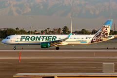 Frontier Airlines | Airbus A321-200 | N701FR | Las Vegas McCarran (Dennis HKG) Tags: aircraft airplane airport plane planespotting canon 7d 100400 lasvegas mccarran klas las frontier frontierairlines fft f9 airbus a321 airbusa321 sharklets n701fr
