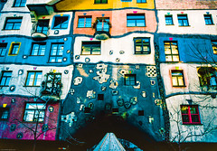 Hundertwasserhaus, Vienna (gwpics) Tags: housing exterior building artist austria apartments facade expressionist vienna heritage hundertwasser architecture analog analogue archive film kodachrome outdoors outside wien österreich