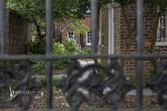 looking into Poe Museum garden (Karen Juliano) Tags: wrought iron fence garden poe virginia