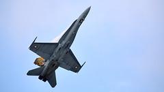 F/A-18 Hornet (Bernie Condon) Tags: military fighter warplane jet aircraft plane formation team riat airtattoo tattoo ffd fairford raffairford airfield flying aviation display airshow uk fa18 hornet boeing bomber swiss swissairforce