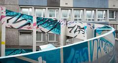 (numéro six) Tags: architecture arquitetura ramp rampa rampe blue bleu azul graffiti streetart art urban urbano urbain city ville cidade ciudad paris france