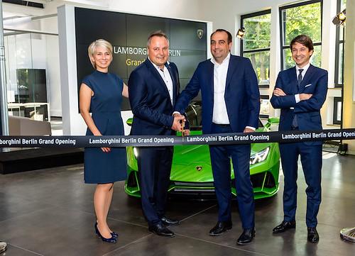 100mm Zwart openingslint met wit bedrukt Opening Lamborghini Berlijn