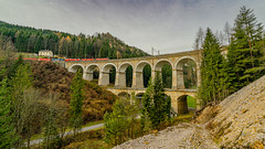 Viaduct of the cold channel (Semmeringbahn) (a7m2) Tags: semmeringbahn viaduct coldchannel semmeringrailway unescoworldheritagesite symbiosisoftechnology architecture nature travel tourismus history engineeringofcarlvonghega