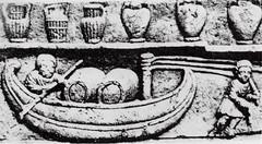 Barca carica di fusti (Sparkling Wines of Puglia) Tags: trasportovino fusti barca museocalvet illustrated illustraciones illustrazioni illustrations illustration antico ancien