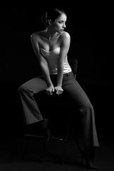 Miki (luca.onnis) Tags: lucaonnis photography portrait portraiture blackandwhite beautifulgirl beautifullight lowkey