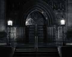 Entrance to St Giles Cathedral, Royal Mile, Edinburgh (S.R.Murphy) Tags: edinburgh fujifilmxf35mmf2 night nov2019 urban urbanlandscape fujifilmxt2 nightphotography socialdocumentary streetphotography stgilescathderal royalmile