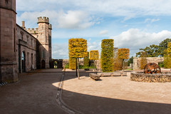 Lowther Castle courtyard (Keith now in Wiltshire) Tags: lowther castle ruins courtyard medieval building architecture tree garden seat bench sculpture lakedistrict nationalpark cumbria england english sky