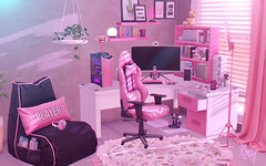 Gamer (RoxxyPink) Tags: backbone back bone furniture home decoration decor deco game gamer gaming streamer equal10 equal event fair {mossmink} pink roxxypink fashionuschies fashion uschies blogspot blogger blogging