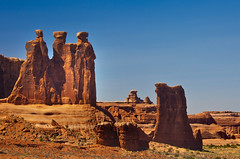 The Three Sisters, Arches National Park, Utah (klauslang99) Tags: klauslang nature naturalworld northamerica national arches park utah the three sisters rocks