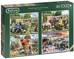 "FALCON F? 1000 4X1000 68X49CM ART 11181 SEASONS ON THE FARM Kevin Walsh DELUXE (Andrew Reynolds transport view) Tags: jigsaw ""jigsaw puzzle"" picture pieces large difficult falcon hobby leisure pasttime f 1000 4x1000 68x49cm art 11181 seasons on the farm kevin walsh deluxe"