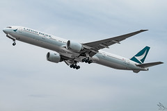 Cathay Pacific - Boeing 777-367(ER) / B-KQE @ Manila (Miguel Cenon) Tags: cx cx777 cx77w cathaypacific cathay cathay77w rpll airplane airplanespotting apegroup appgroup airport planespotting ppsg philippines manila nikon naia d3300 boeing boeing777 boeing77w b777 b77w plane aviation ge90 wings widebody widebodyjet wing twinengine cockpit sky grass aircraft jet city building road bkqe