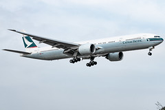 Cathay Pacific - Boeing 777-367(ER) B-KQY @ Manila (Miguel Cenon) Tags: cx cx777 cx77w cathaypacific cathay cathay77w rpll airplane airplanespotting apegroup appgroup airport planespotting ppsg philippines manila nikon naia d3300 boeing boeing777 boeing77w b777 b77w plane aviation ge90 wings widebody widebodyjet wing twinengine cockpit sky grass aircraft jet city building road bkqy