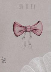 Bow Tie Fly (Klaas van den Burg) Tags: pointilism ink crown pen dippen wordplay absurd surrealism