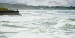 A stormy November seascape ;o) (Elisafox22) Tags: elisafox22 sony rx10m3 ff fencefriday winter wild sea fencedfriday fence barrier seawall tide hightide waves surf spray banffbay banff headland whitehills outdoors morning aberdeenshire scotland elisaliddell©2019