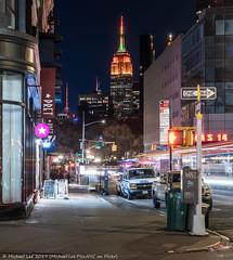 Broadway and 12th (20191128-DSC00032-Edit) (Michael.Lee.Pics.NYC) Tags: newyork broadway night longexposure lighttrail street architecture cityscape skyline esb empirestatebuilding metropolitanlifeinsurancetower sony a7rm4 fe24105mmf4g
