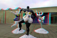 Niki de Saint Phalle aan Zee 3D (wim hoppenbrouwers) Tags: nikidesaintphalleaanzee 3d nikidesaintphalle beeldaanzee3d anaglyph stereo redcyan